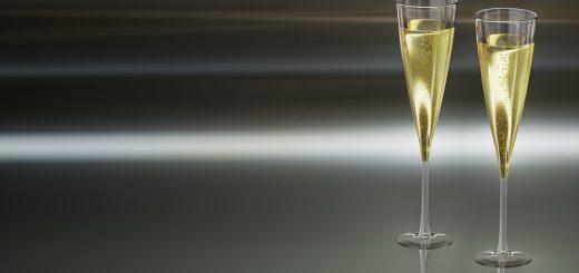 kieliszki szampan